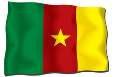 Bandierina del Cameroun royalty illustrazione gratis