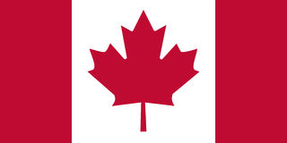 Bandierina del Canada Immagine Stock Libera da Diritti