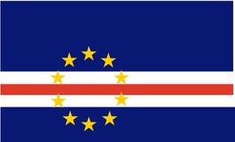 Bandierina del Capo Verde Fotografia Stock Libera da Diritti