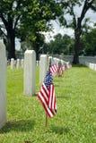 Bandierina del cimitero nazionale Immagine Stock Libera da Diritti