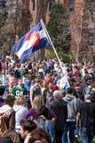Bandierina del Colorado al giorno 420 Fotografia Stock Libera da Diritti