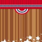Bandierina del courtain degli Stati Uniti Fotografia Stock