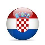 Bandierina del Croatia Illustrazione di vettore Fotografia Stock