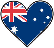 Bandierina del cuore dell'Australia Fotografia Stock