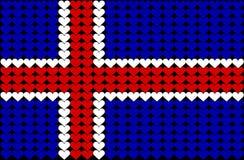Bandierina del cuore dell'Islanda Immagini Stock Libere da Diritti