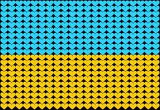 Bandierina del cuore dell'Ucraina Immagini Stock