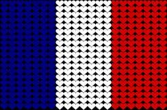 Bandierina del cuore della Francia Fotografie Stock