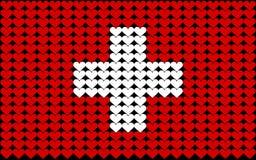 Bandierina del cuore della Svizzera Fotografia Stock