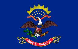 Bandierina del Dakota del Nord, S immagine stock libera da diritti
