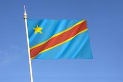 Bandierina del The Democratic Republic Of The Congo fotografia stock libera da diritti