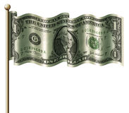 Bandierina del dollaro Immagine Stock Libera da Diritti