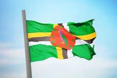 Bandierina del Dominica Fotografie Stock Libere da Diritti