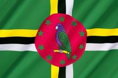 Bandierina del Dominica Fotografia Stock Libera da Diritti