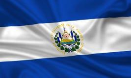 Bandierina del El Salvador Fotografie Stock