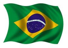 Bandierina del Federative Republic Of Brazil fotografia stock libera da diritti