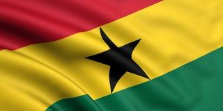 Bandierina del Ghana illustrazione vettoriale
