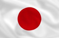 Bandierina del Giappone Immagini Stock