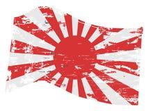 Bandierina del giapponese di Grunge Fotografia Stock Libera da Diritti