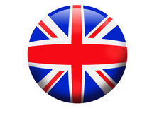 Bandierina del globo dell'Inghilterra Regno Unito 3D Fotografia Stock Libera da Diritti