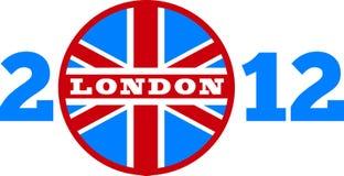 Bandierina del Jack del sindacato di Londra 2012 Britannici Fotografia Stock