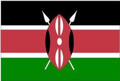 Bandierina del Kenia Fotografia Stock Libera da Diritti
