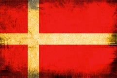 Bandierina del Kingdom Of Denmark illustrazione vettoriale
