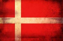 Bandierina del Kingdom Of Denmark royalty illustrazione gratis