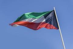 Bandierina del Kuwait immagine stock libera da diritti
