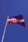Bandierina del Latvia Fotografia Stock Libera da Diritti