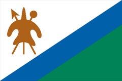 Bandierina del Lesoto Immagini Stock