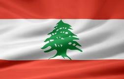 Bandierina del Libano Fotografie Stock