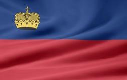 Bandierina del Liechtenstein Fotografie Stock Libere da Diritti