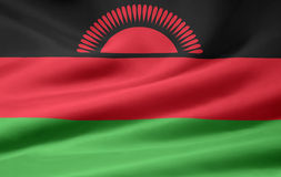Bandierina del Malawi Fotografia Stock Libera da Diritti
