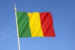 Bandierina del Mali Fotografie Stock Libere da Diritti