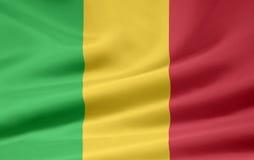 Bandierina del Mali Fotografia Stock