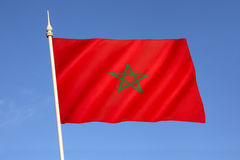Bandierina del Marocco Fotografia Stock