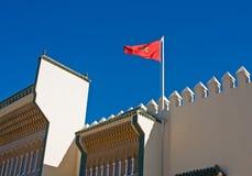 Bandierina del Marocco Fotografie Stock Libere da Diritti