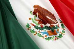 Bandierina del Messico Fotografia Stock Libera da Diritti