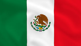 Bandierina del Messico Immagini Stock