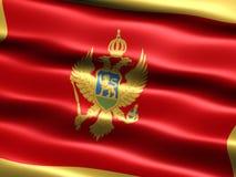 Bandierina del Montenegro Fotografie Stock