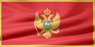 Bandierina del Montenegro Immagine Stock Libera da Diritti