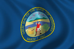 Bandierina del Nebraska illustrazione di stock