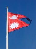 Bandierina del Nepal Fotografia Stock Libera da Diritti