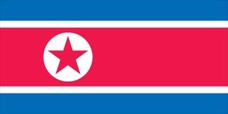 Bandierina del Nord Corea Fotografie Stock