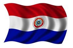Bandierina del Paraguay Immagini Stock Libere da Diritti