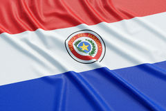 Bandierina del Paraguay Immagine Stock
