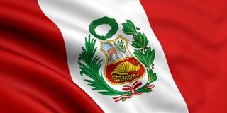 Bandierina del Perù Immagine Stock Libera da Diritti