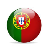 Bandierina del Portogallo Illustrazione di vettore Fotografie Stock