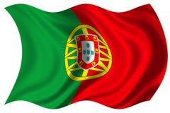 Bandierina del Portogallo isolata Immagine Stock Libera da Diritti