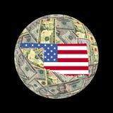 Bandierina del programma dell'Oklahoma sui dollari illustrazione vettoriale